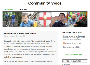 Community Voice - the City of Lincoln Council consultation satelite site