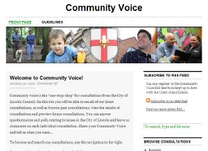 Community Voice - the City of Lincoln Council consultation satelite site