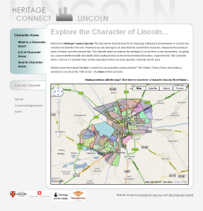 The Heritage Connect website