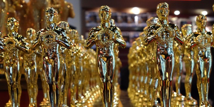 Oscar statuettes are lined up in a local souvenir shop 10 days prior to this year's upcoming Oscars, the 85th Academy Awards, in Hollywood, California, on February 14, 2013. The ceremony is scheduled for February 24, 2013.  AFP PHOTO / JOE KLAMAR        (Photo credit should read JOE KLAMAR/AFP/Getty Images)